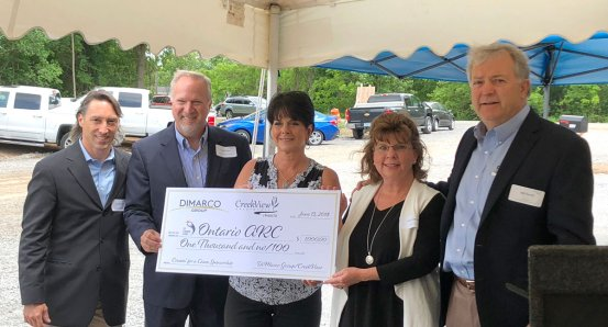 Donation presentation to Canandaigua ARC, June 2018.